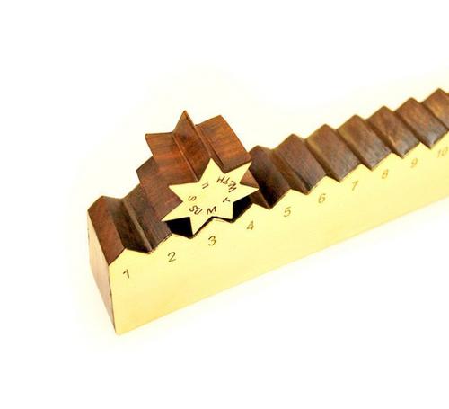 Brass and Wood Ruler Display Calendar