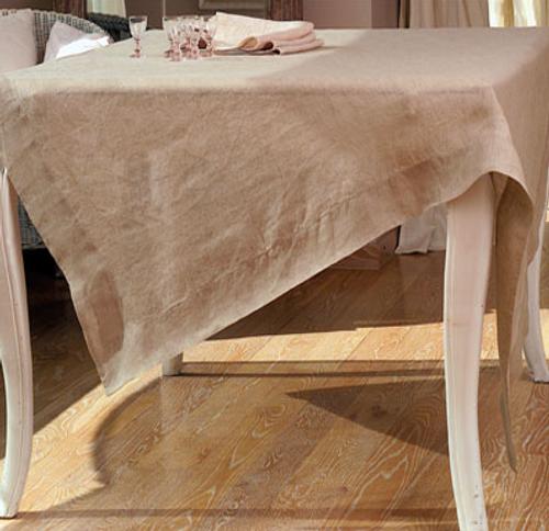 """Fjord Flax Tablecloth 67"""" x 128"""""""