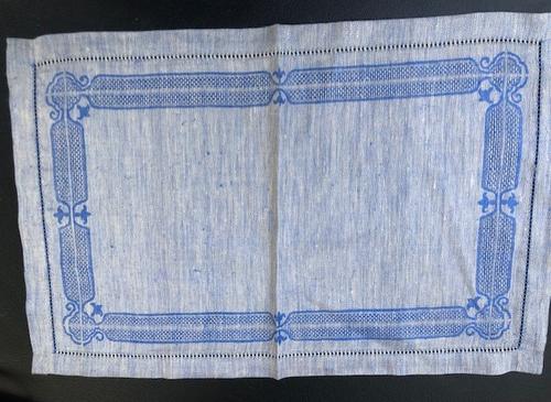 Blue Linen Placemats
