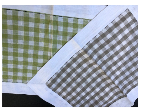 Checkered Green or Brown Placemat