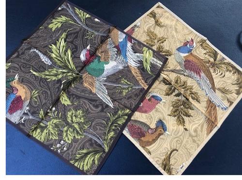 Pheasant Napkins, Brown or Beige