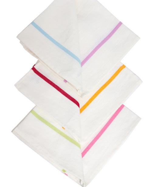 White Rainbow Linen Napkins