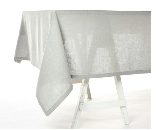 "Polylin Tablecloth Ash 63""x 118"""