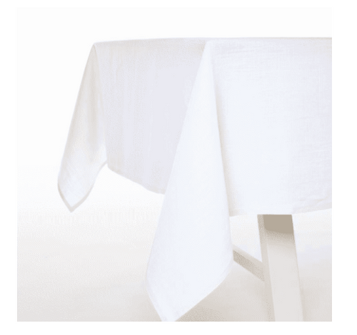 "Polylin White Tablecloth 69"" x 128"""