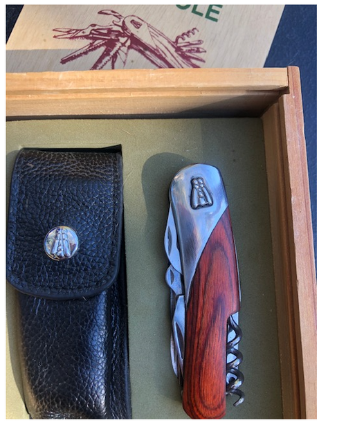 Laguiole Corkscew in a Wooden box with Leather Pouch