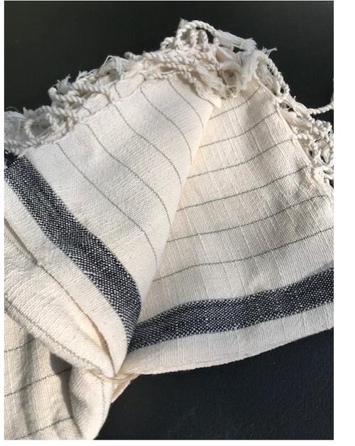 Cotton Striped Throw