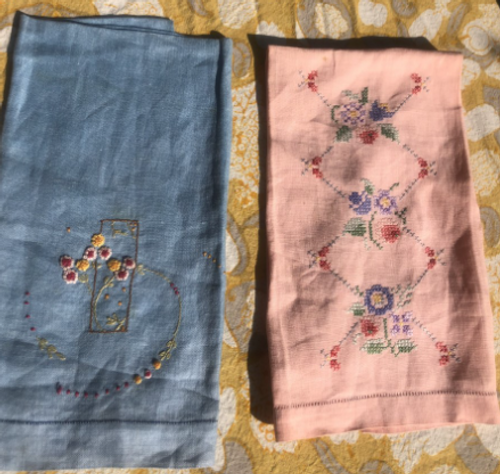 Hand Stitched Hand Towels