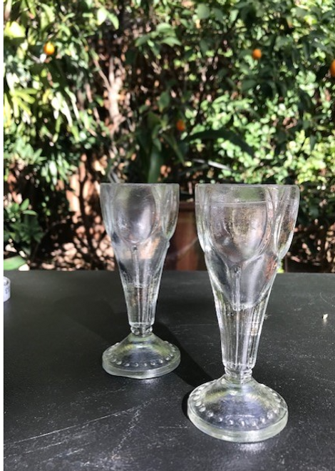 Thick Glass Cups, set of 12