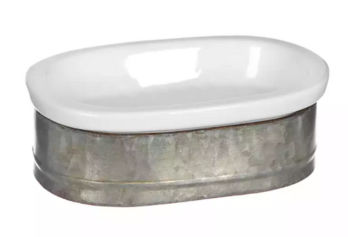 Ceramic/Metal Soap Dish