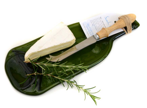 Recycled Glass Cheese Board, Bottle Shape