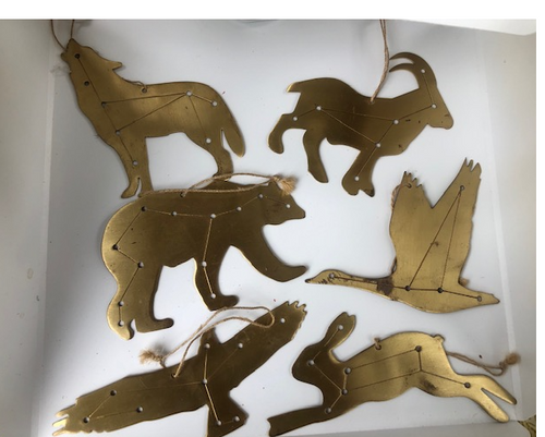 Copper Animal Ornaments
