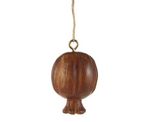 Wooden Pomegranate Ornaments - Regular