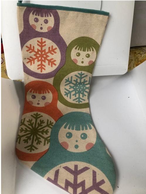 Stocking with Nesting Dolls