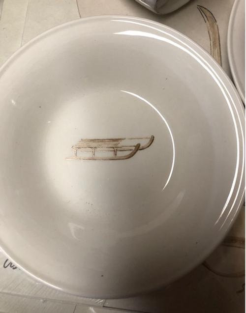 Sleigh Bowl/Plate