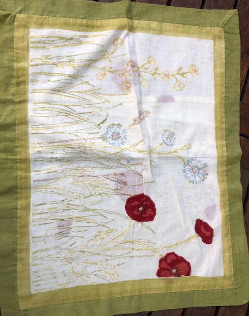Cotton Pillow Case - Poppies
