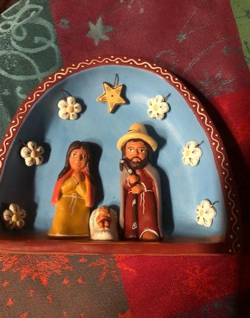 Miniature Handmade Terracotta Nativity