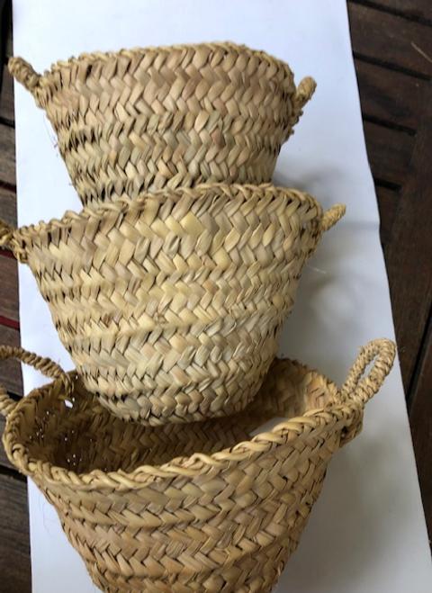 Straw Basket, set of 3