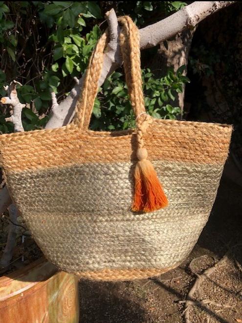 Jute Bag with Tassel