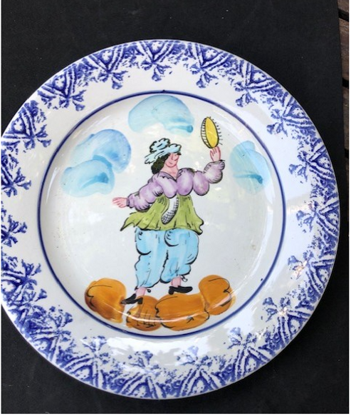 Vintage Brittany Plate - Musician