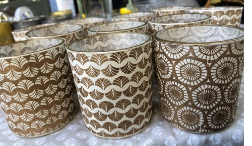 White and Gold Votives
