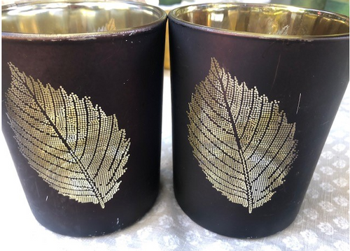 Autumn Leaf Votives, Set of 2