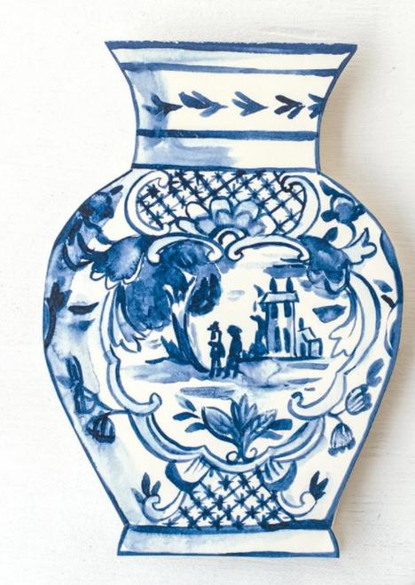 Greeting Card China Blue Vase