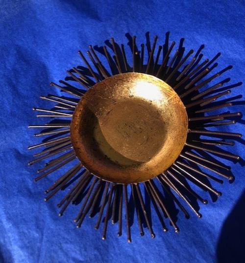 Sea Urchin Bowl - Gold Leaf