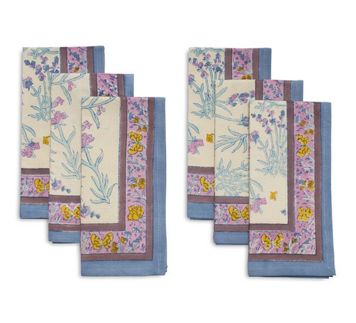 Papillon Bleu Napkins, Set of 6