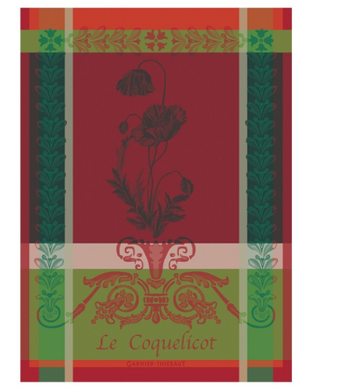 Le Coquelicot Poppies Kitchen Towel