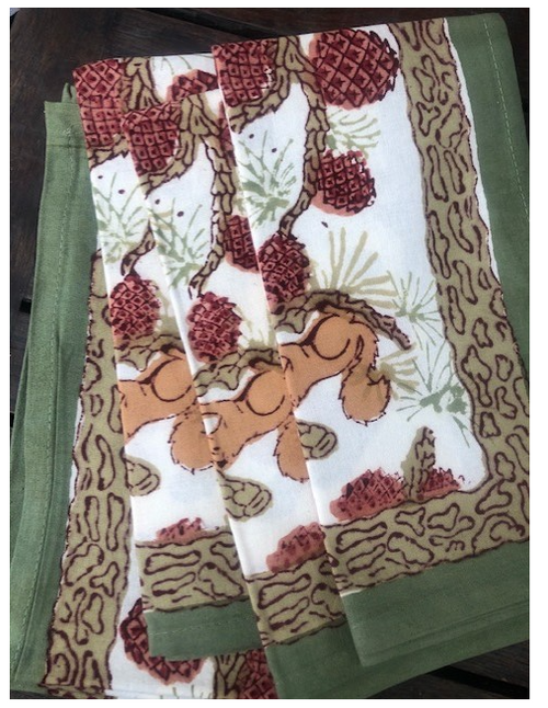 Squirrel Napkins, Set of 6