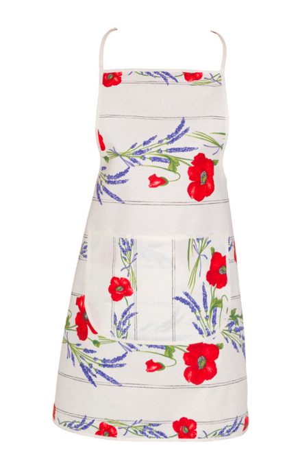Poppies Apron - Available in White, Blue, Orange and Yellow