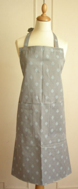 Provence Grey and White Apron