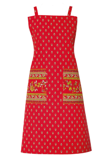 Provence Apron, Red
