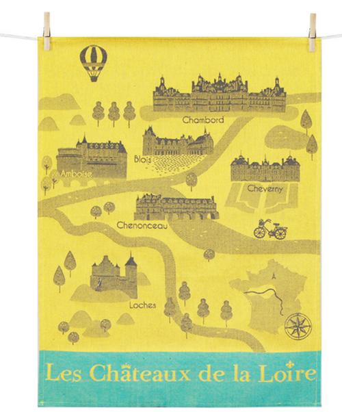 Chateaux de la Loire Kitchen Towel