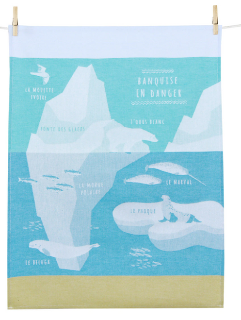 L'ours Blanc Banquise, the Polar Bear Kitchen Towel