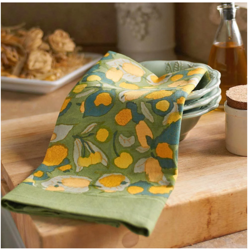 Fruit Yellow Green Kitchen Towel