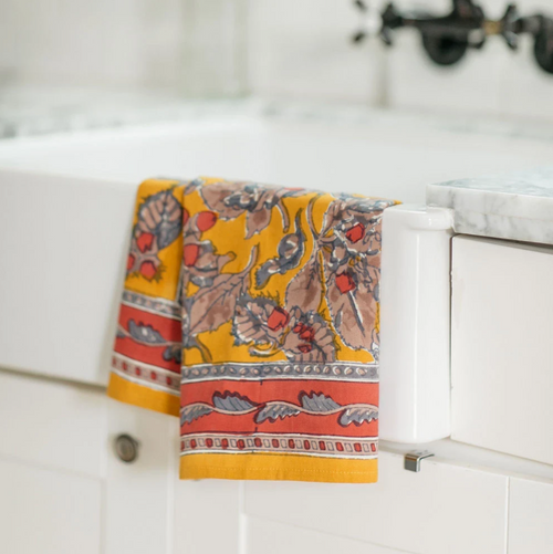 Acorn Mustard Kitchen Towel