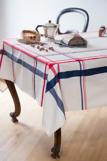 "Iraty Tablecloth, Off White, 67"" x 90"""