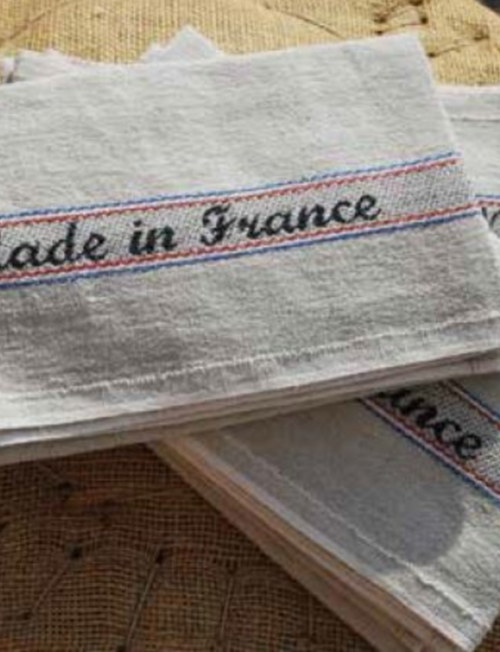 """Linen and cotton Kitchen Towel """"Made in France"""""""