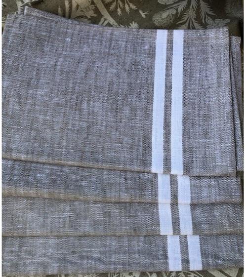 Bistro Style Kitchen Towel with White Stripes