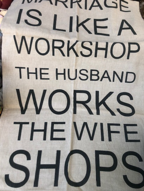 Marriage is Like a Workshop Kitchen Towel