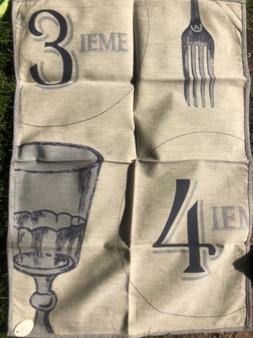 Cup and Fork Kitchen Towel