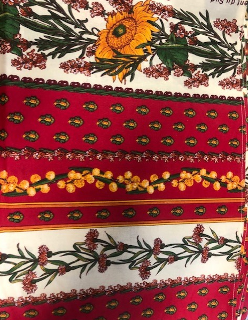 Provence Tablecloth Red with Sunflowers