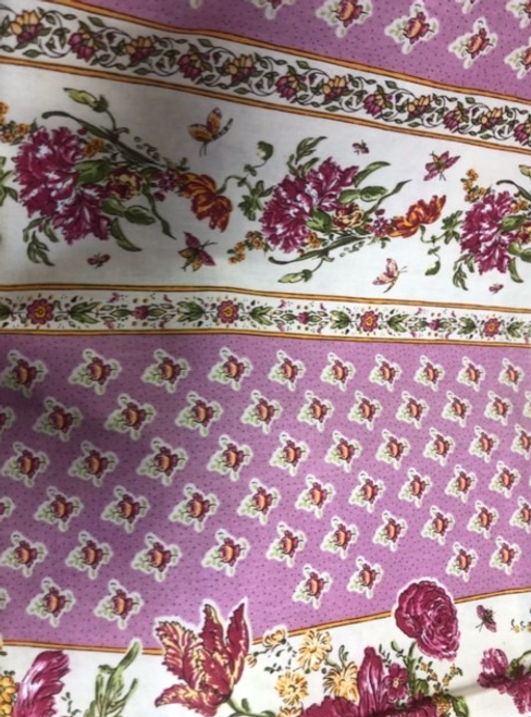 "Provence Tablecloth Pink with Flowers 58""x 98"""