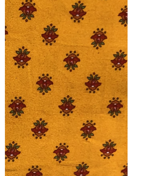 "Provence Tablecloth Yellow with Dark Red Flowers, 60"" x  116"""