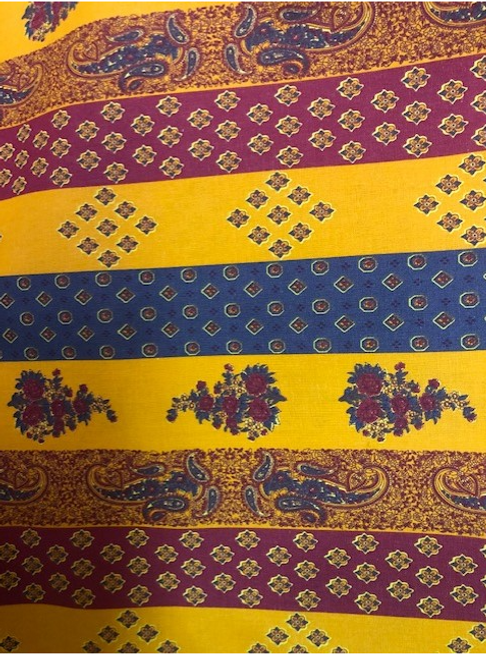 """Provence Tablecloth Orange or Yellow 62"""" x 101"""""""