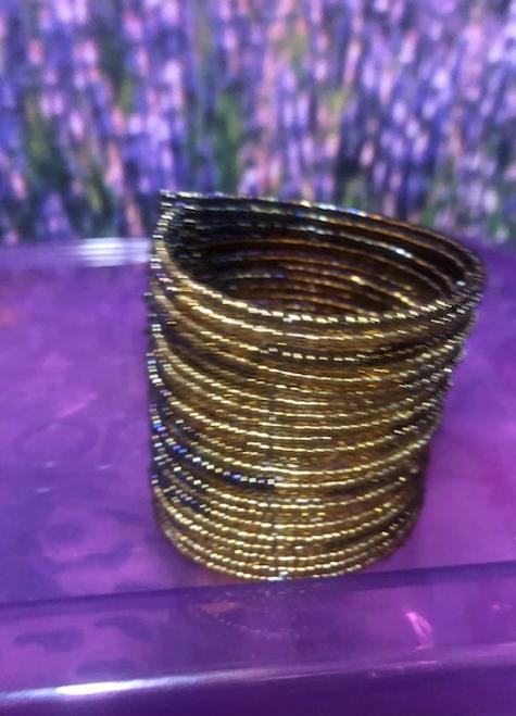 Bead Bracelet Gold and Black