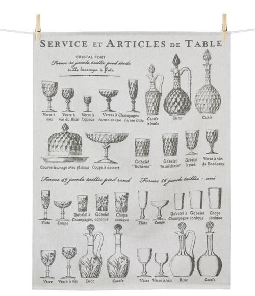 Verres or Glasses Kitchen Towel
