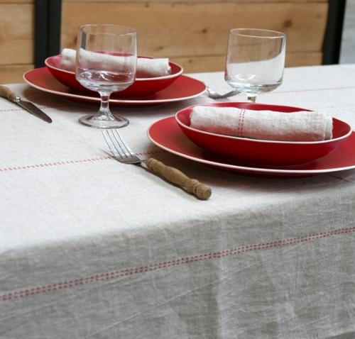 "Rythmo Carotte Tablecloth, Square 70"" x 70"""