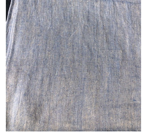 """Sabbia Blue Linen Tablecloth, 61"""" x 61"""""""
